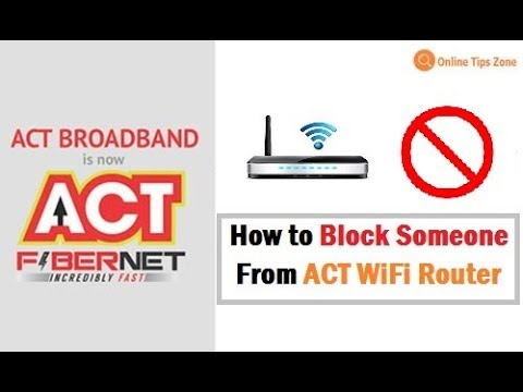 How to Block Someone on ACT WiFi