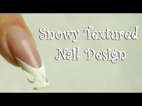 ❅Textured Snowy Nail Design - Negative Space Gel Nails by Goda ❅
