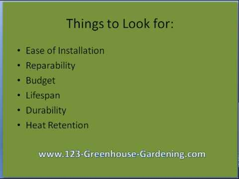 Greenhouse Glazing: choosing the right one for your greenho
