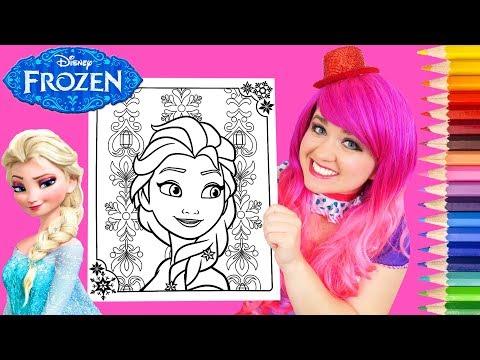 Coloring Frozen Elsa Disney Coloring Book Page Prismacolor Colored Pencils   KiMMi THE CLOWN
