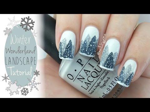 Easy Winter Wonderland Nails Tutorial