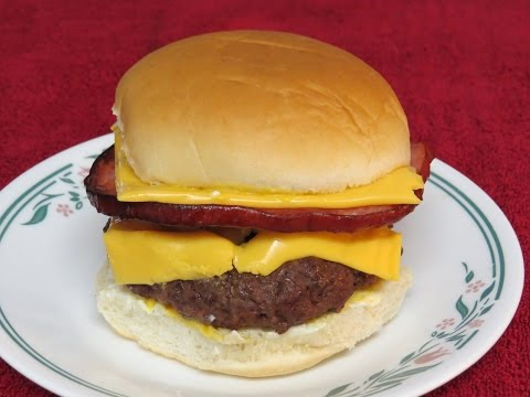 Easy and Delicious Ham and Cheese Burger Cooked in the Toaster Oven