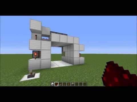 Minecraft 3x3 Piston Door (1.5.2 Fix)