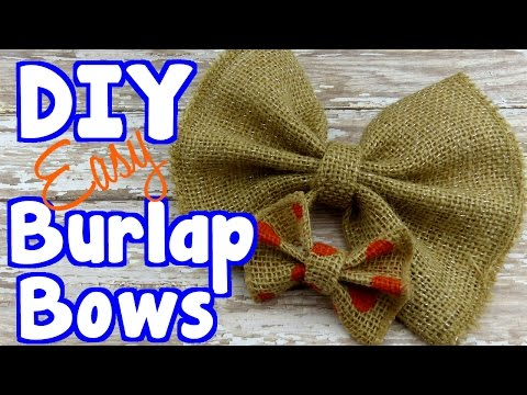 DIY Crafts: How To Make Burlap Bows For Bow Ties and Gift Wrap