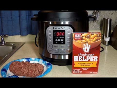 Instant Pot Hamburger Helper Bacon CheeseBurger