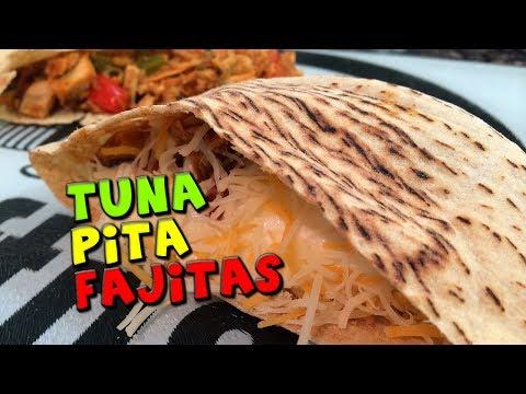 TUNA Pita Fajitas Recipe (Low Fat/High Protein)