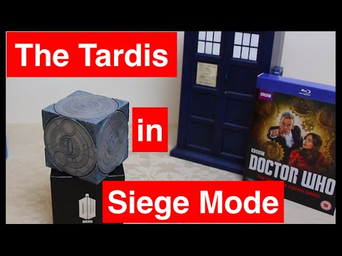 Doctor Who - The Tardis 'SIEGE MODE' Cube by RubberToe Replicas - Close up Review