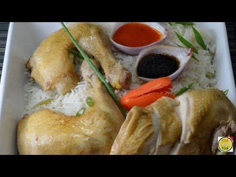 Singapore Chicken Rice - By Vahchef @ vahrehvah.com
