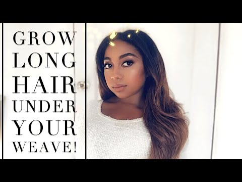 NATURAL/TEXLAXED HAIR| How To Grow Long Hair Under Your Weave!