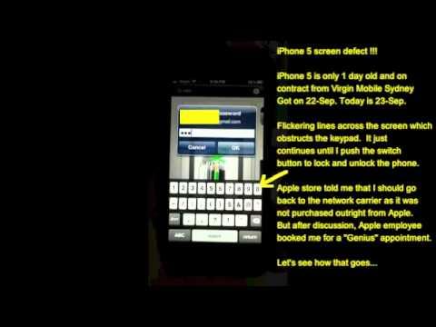 iPhone 5 screen defect !!!