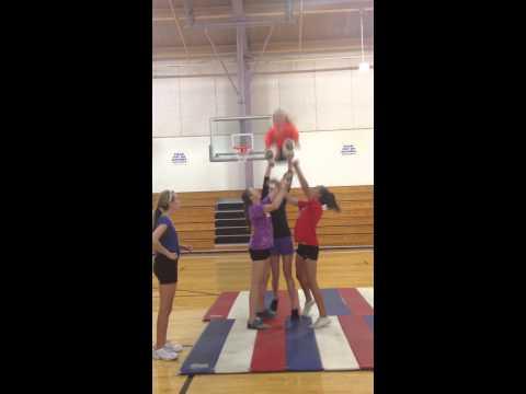 Beginner level Transition Cheer Stunt