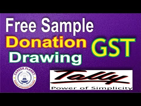 GST on free sample, donation, drawings in Tally ERP 9 Part-33|Free Supply in GST Tally