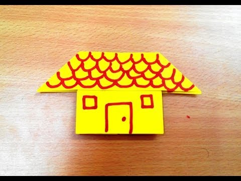 How to make an origami house step by step.