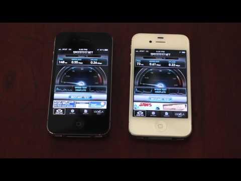 iPhone 4 vs. iPhone 4S AT&T Data Speeds