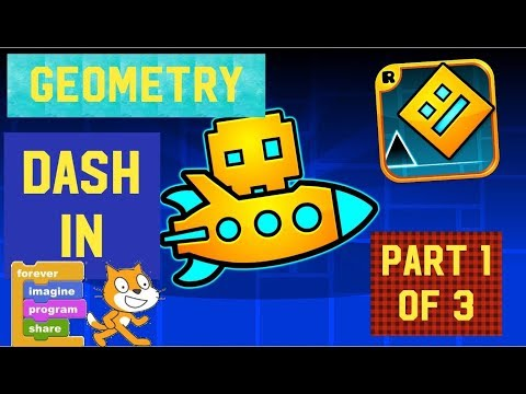 How to make geometry dash in scratch (1 of 3): platforms
