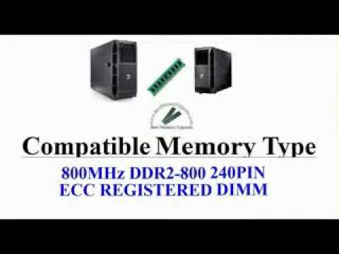 Compatible RAM Memory Upgrade Specifications of Dell PowerEdge T300 Server Computer System DDR2 800