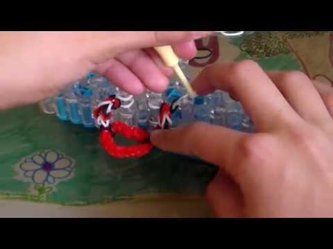 Rainbow Loom Heart  Charm Fishtail Bracelet or Ring