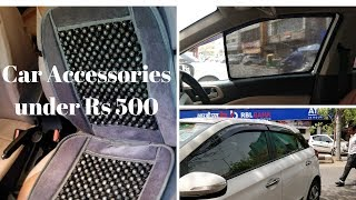 Accessories for car under Rs 500 | Must have Car Accessories | KarolBagh Car Market