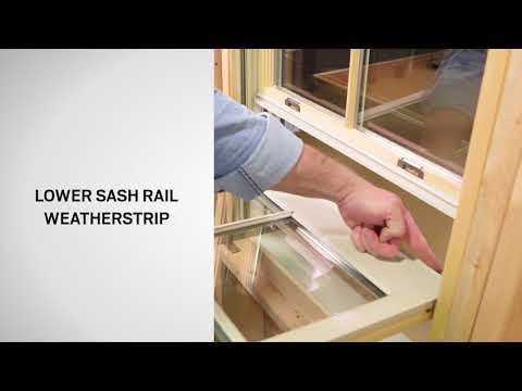 Identify the Parts of Andersen® E-Series® Double-Hung Windows