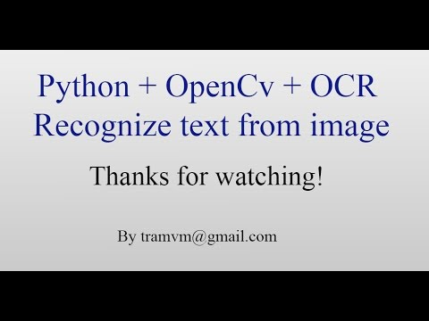 Download How to recognize text from image with Python OpenCv OCR ?