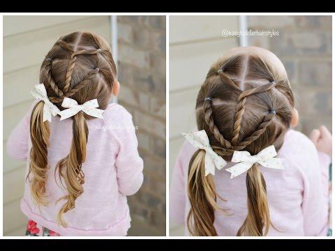 Little Girl Hairstyle, Rope Twist Split