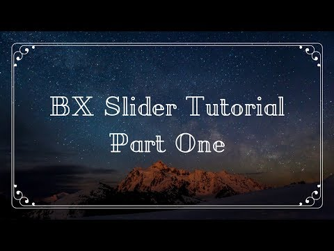 How to use bx slider for your website | Part One | Example One