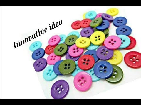 Innovative idea with buttons | jewellery tutorials