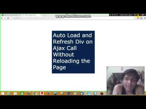 jQuery Auto Load and Refresh Div on Ajax Call Without Reloading Page