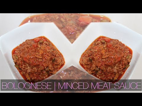 How To Make Bolognese | Minced meat sauce