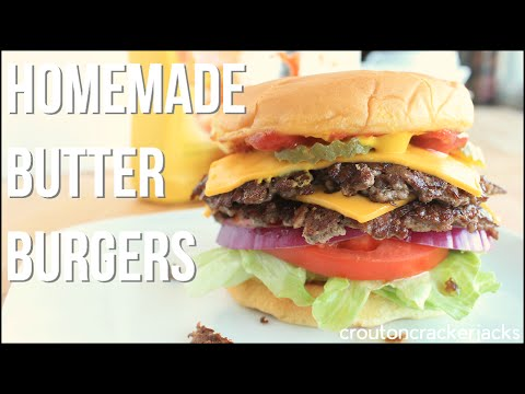 Homemade ButterBurgers, The Culver's Way! - Butter Burger Deluxe Recipe