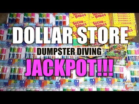 Dumpster Diving Jackpot At Dollar Store - Brand New Stuff! | OmarGoshTV