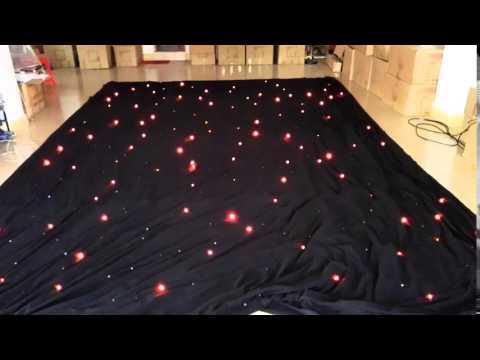 rgbw led star curtain