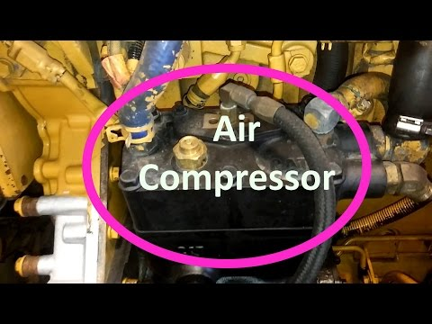 How To Change Your Cat Air Compressor.  Remove And Install Air Compressor.