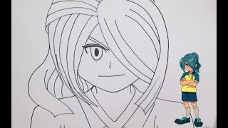 رسم منصور 風丸一郎太 شخصية من أبطال الكرة خطوة بخطوة بالرصاص