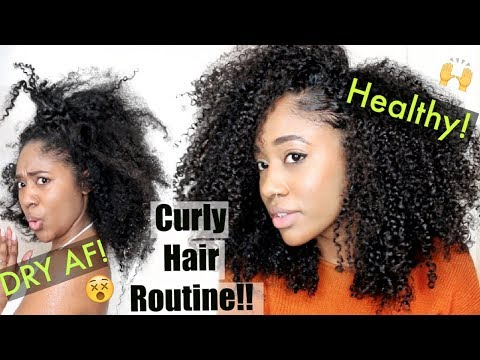 SUPER Dry  to Long + Moisturized💦| Updated Natural Hair Routine for Healthy Curls