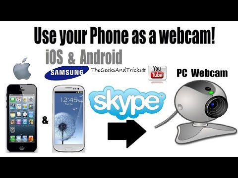 How to Use Phone Camera as PC Web camera For Video Chat (USB/Wireless) Windows & Mac - 2017
