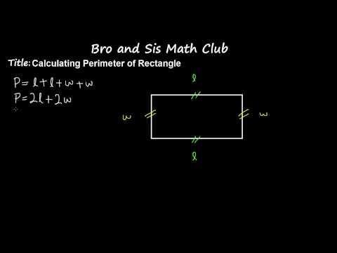6th Grade Math Calculating Perimeter of Rectangle