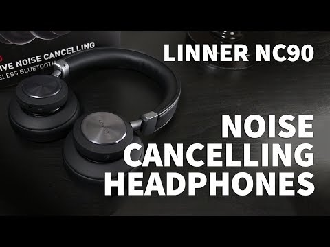 Linner NC90 Wireless Headphones with ANC - Active Noise Cancelling Headphones Under $100