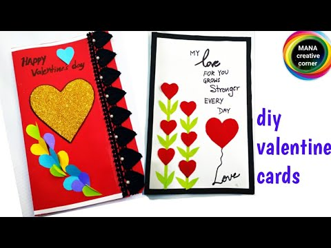 2 easy handmade valentine's day greeting cards for husband/boy friend/Diy valentines day gift cards
