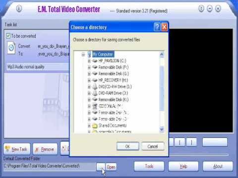 change video to any audio/ video format