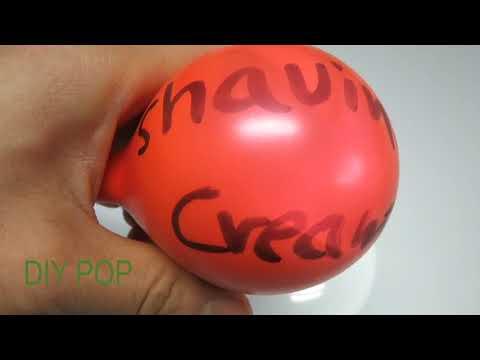 Cutting Open Stress Balls and Shaving Cream Balloons ASMR Video! DIY POP