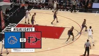 Boise State vs. San Diego State Basketball Highlights (2018-19) | Stadium