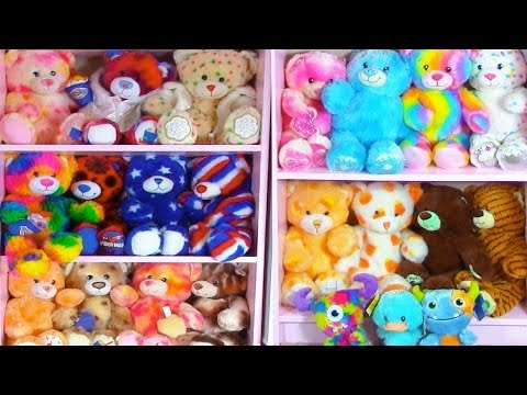 Build A Bear Collection Plush Stuffed Animals Room Tour Haul - Cookieswirlc Video