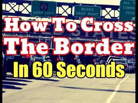 Nexus Card Pass [HD] - How To Cross The Border Legally In 60 Seconds [Proof] Global Entry