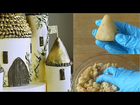 How to make dough for cake pops or moulding & castle cake tutorial preview