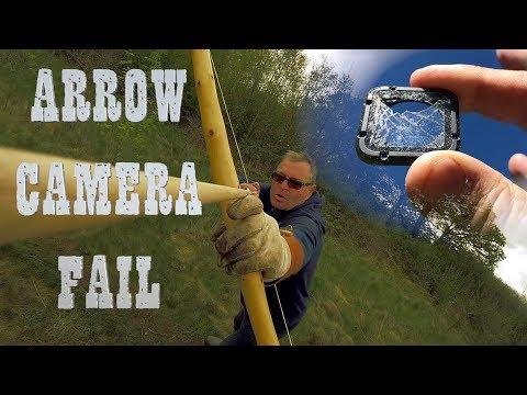Archery Arrow Camera Fail. Go-Pro on an Arrow. I Destroy Arrow-Cam