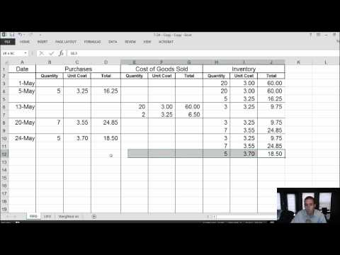 Module 7, Video 2 - Inventory - FIFO, LIFO, Weighted Average - Problem 7-2A