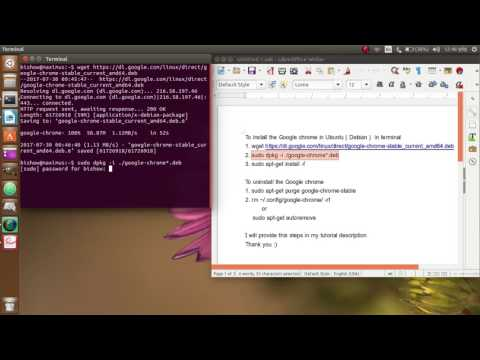 How to install and uninstall the Google chrome in Ubuntu 17.04    EASY WAY