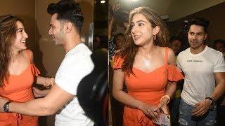Sara Ali Khan And Varun Dhawan Looks Romantic Together At A Special Screening Of SOTY 2
