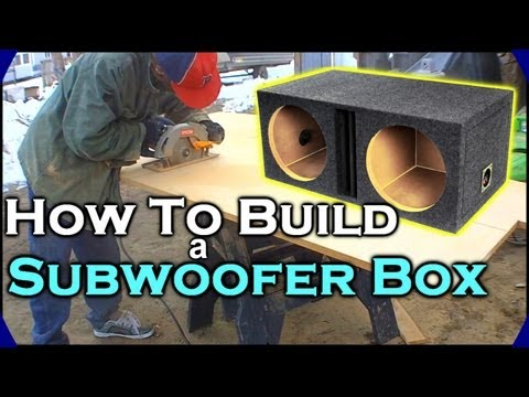How To Build A Subwoofer Box   Beginner Car Audio Tutorial - Dual 12
